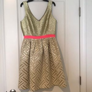 Stunning party dress Champagne and Strawberry